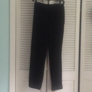 Black pinstripe pants straight leg